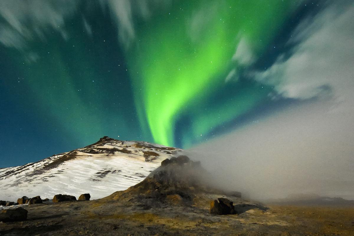 Geothermal area in Námaskarð near Mývatn in Iceland.