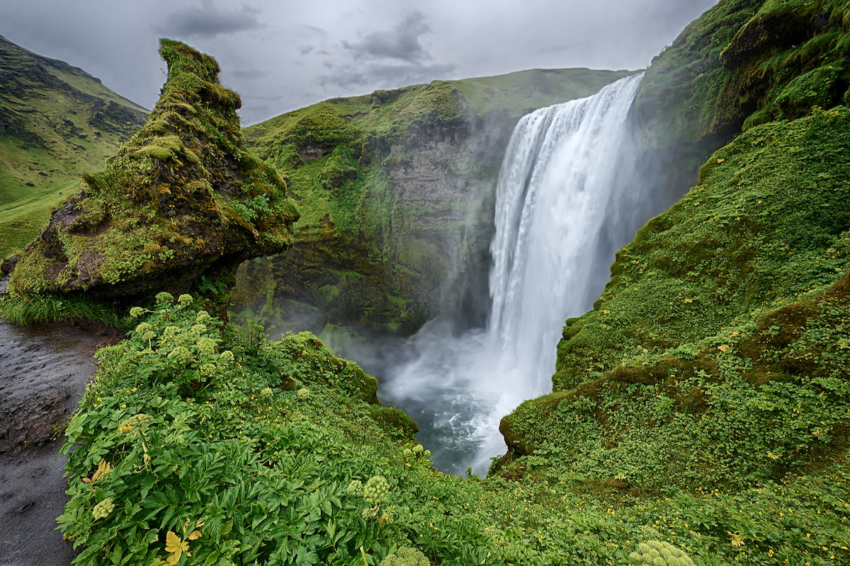 Skogarfoss waterfall in Iceland